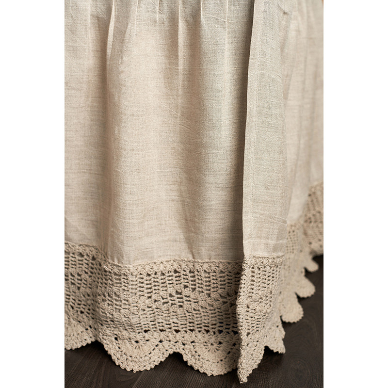New Eveline Linen Natural Crochet Bed Skirt Crochet Bed Skirts Of Gorgeous 41 Pics Crochet Bed Skirts