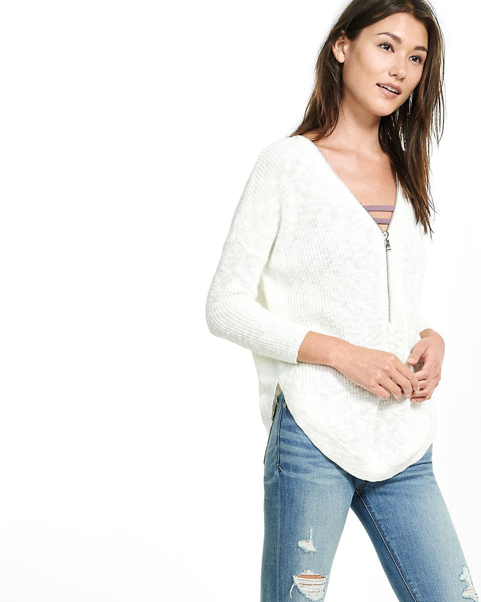 New Express Front Zip Extreme Circle Hem Sweater Tunic In Circle Sweater Of Innovative 50 Ideas Circle Sweater