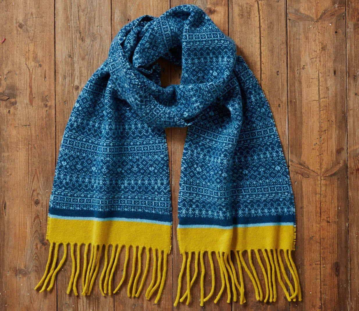 Fair Isle Knit Scarf blanket fringe scarf t for her