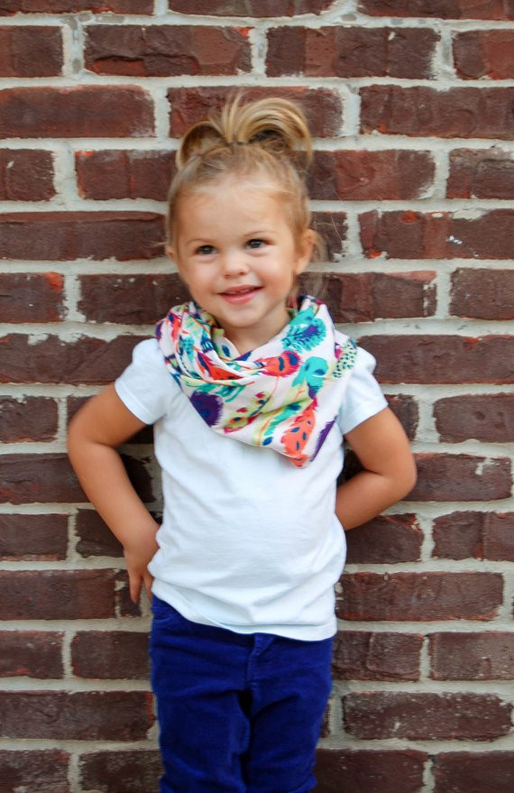 Feather BABY SIZE Tube Infinity Scarf