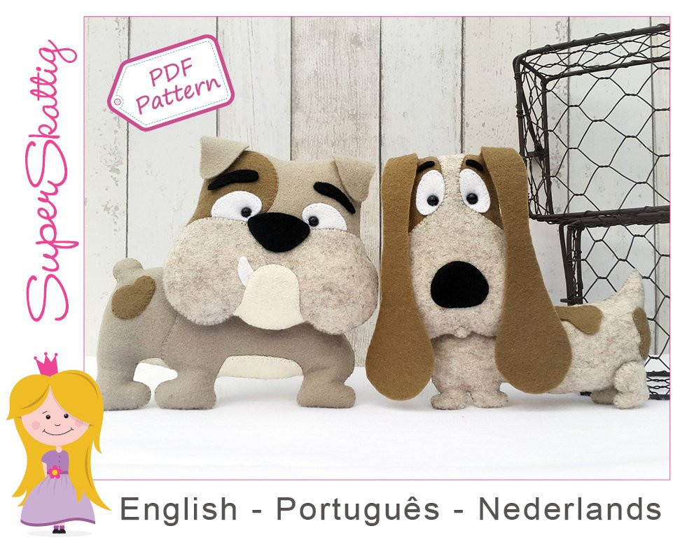 New Felt Pattern Bob & Eddy softie Pattern for A Dog Plush Dog Sewing Patterns Of Amazing 40 Images Dog Sewing Patterns