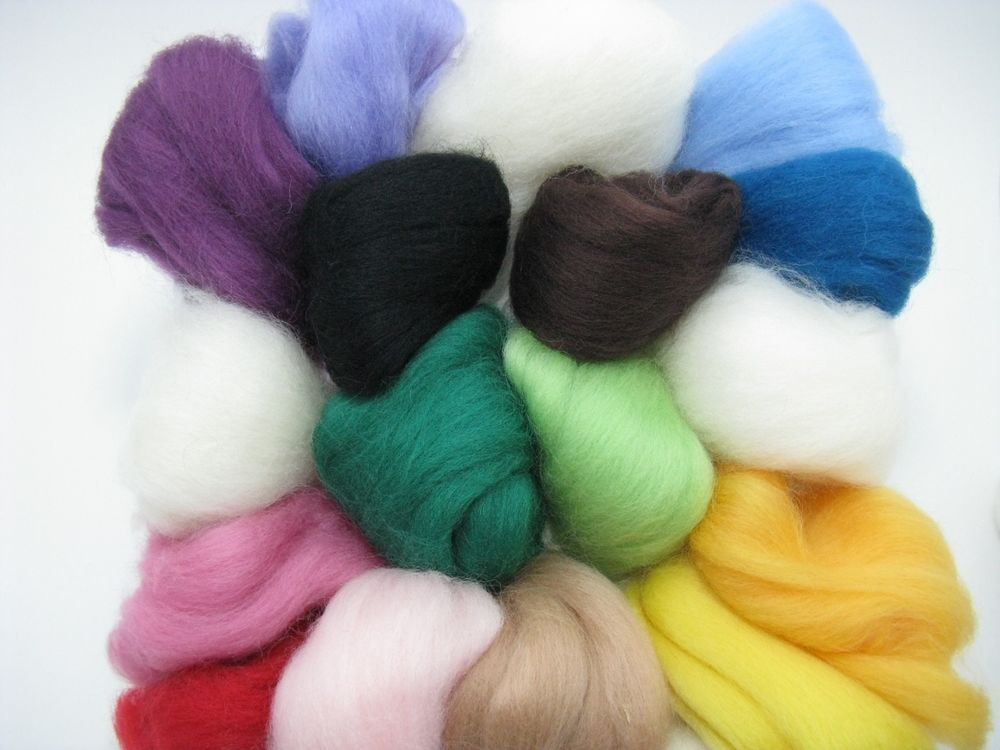 Felting Wool Roving Fiber Needle Dry Felting Wool Hand