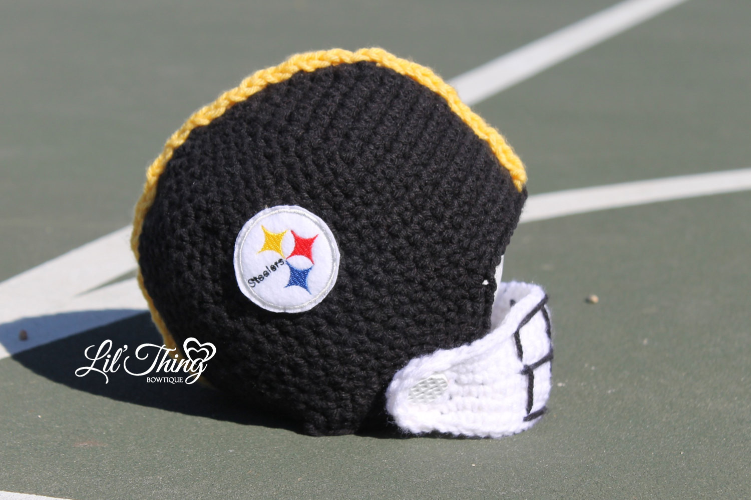 New Football Helmet Crochet Helmet Steelers by Lilthingbowtique Crochet Football Helmets Of Lovely 48 Pics Crochet Football Helmets