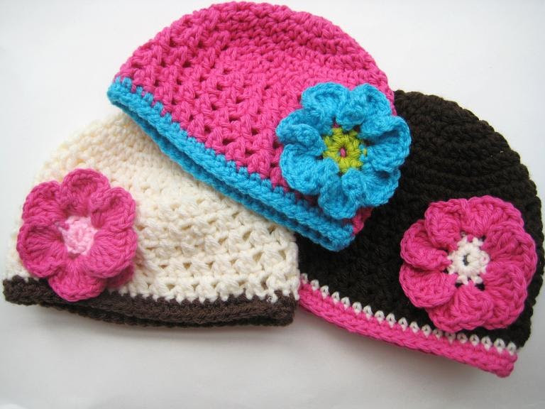 New for the Love Of Crochet Along Fall Beanie with Flower Crochet Flowers for Hats Free Patterns Of Contemporary 43 Pics Crochet Flowers for Hats Free Patterns