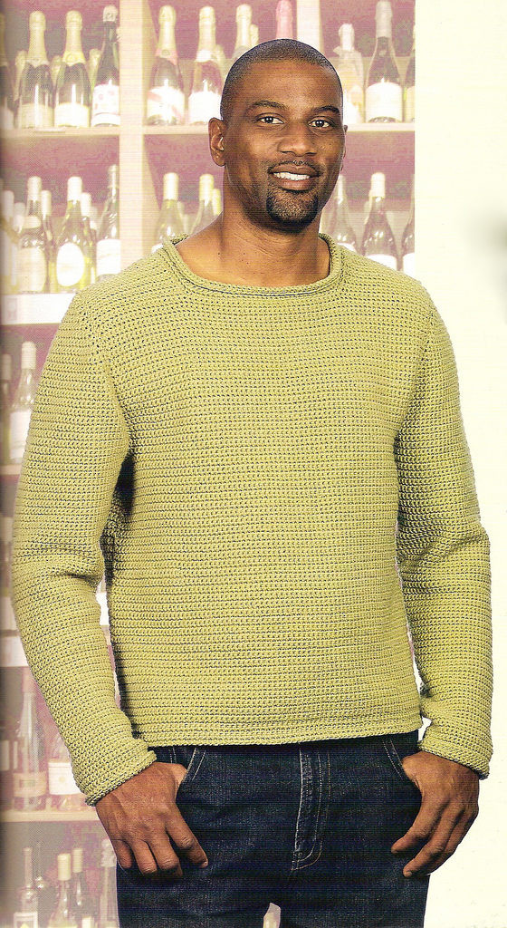 New Free Crochet Pattern forolled the Crochet Dude Crochet Mens Sweater Of Awesome Men S Sweater Knitting Pattern Free Crochet Mens Sweater