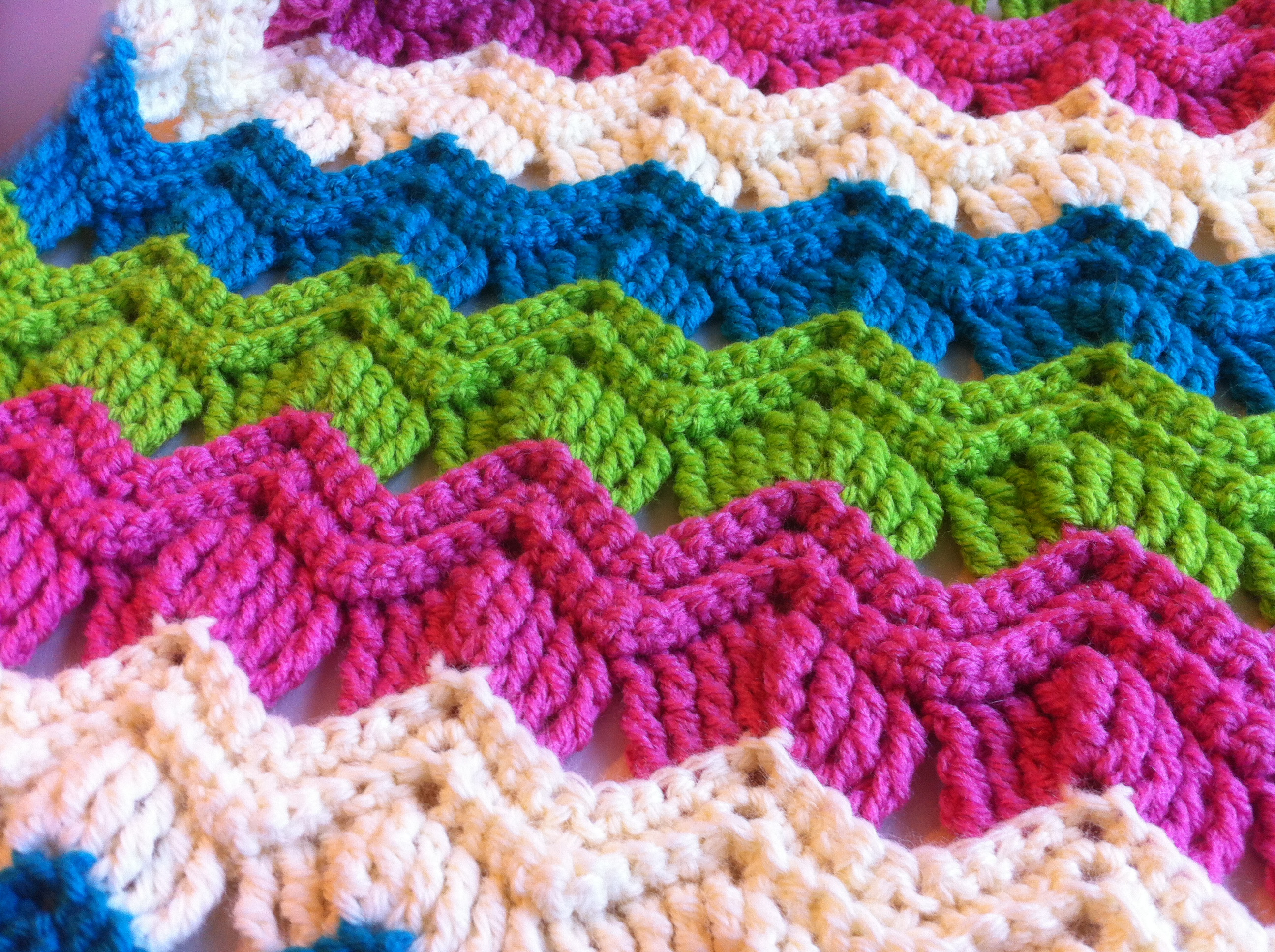 New Free Crochet Pattern Vintage Ripple Fan Scarf Crochet Stitches with Pictures Of Marvelous 46 Photos Crochet Stitches with Pictures