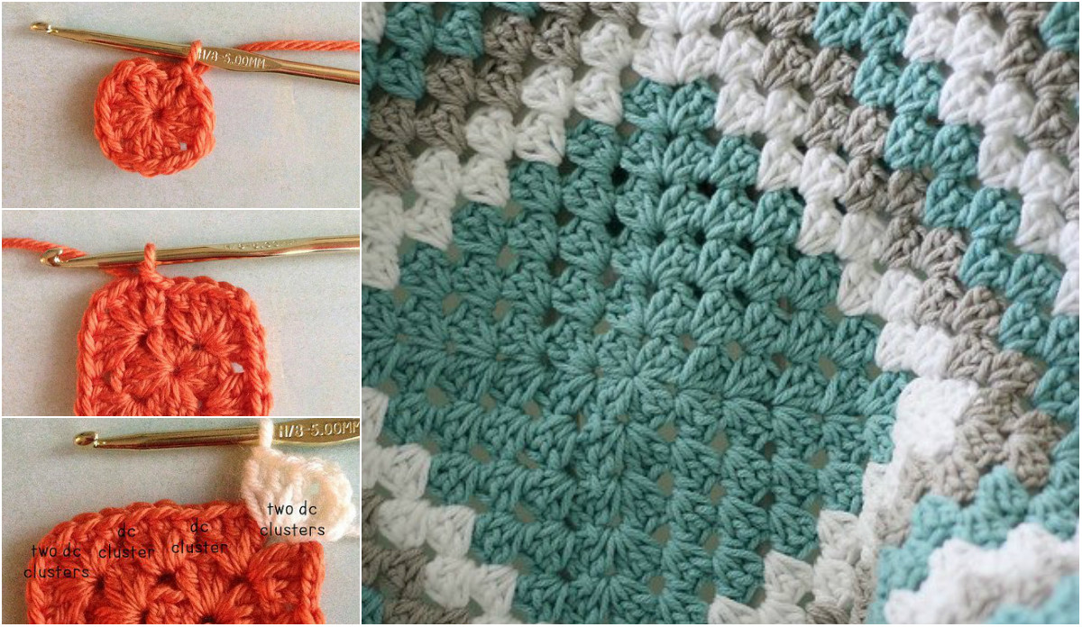 Free Crochet Patterns Granny Squares Dancox for