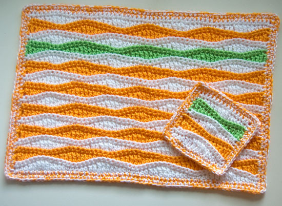 New Free Pattern Summer Waves Placemat and Coaster Wave Crochet Pattern Of Unique 40 Models Wave Crochet Pattern