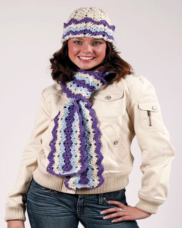 New Free Ripple Hat and Scarf Crochet Pattern From Redheart Crochet Hat and Scarf Of Superb 50 Pics Crochet Hat and Scarf