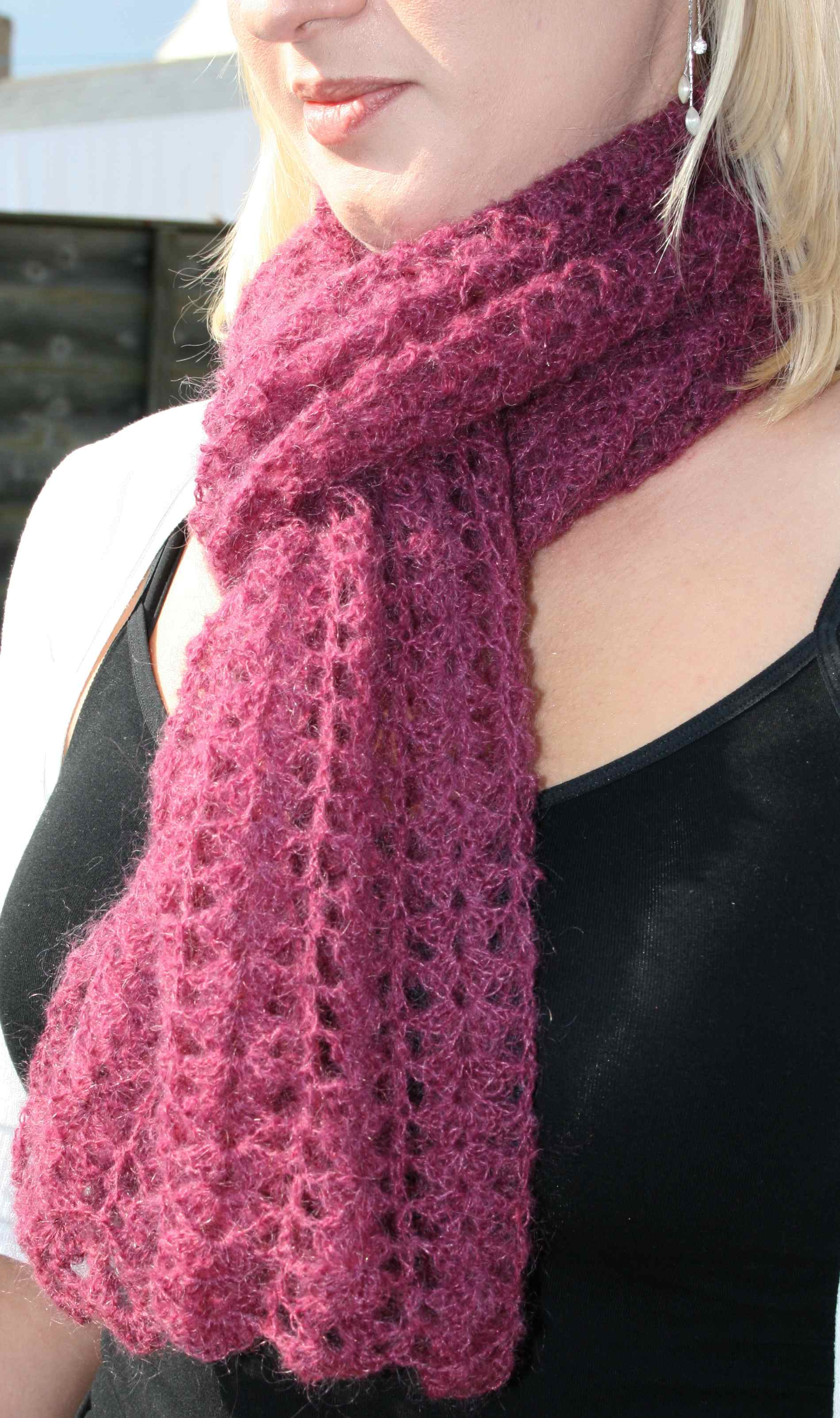 free scarf crochet patterns for beginners pictures