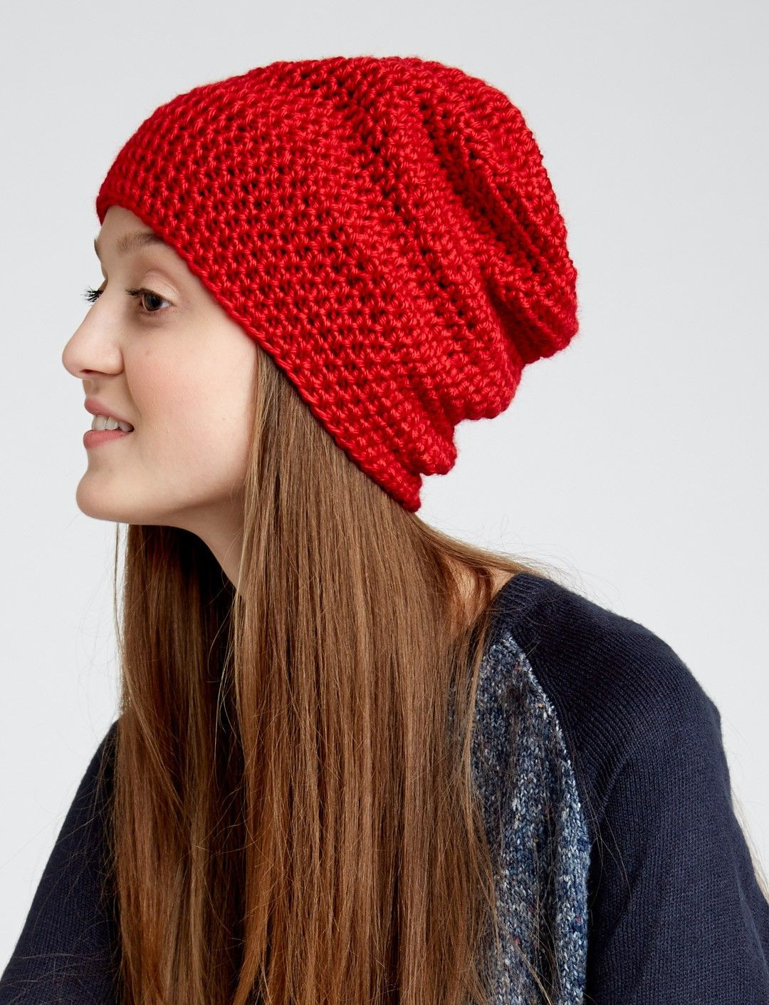 New Free Slouchy Beanie Pattern Intended for Beginners and It Red Slouchy Beanie Of New 50 Models Red Slouchy Beanie