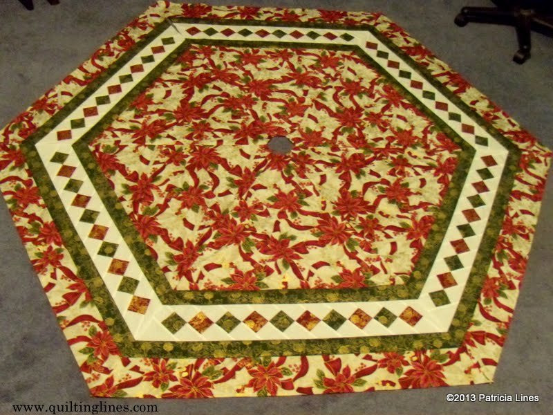 New Free Tutorial Patchwork Border Tree Skirt by Patricia Lines Free Tree Skirt Patterns Of Brilliant 44 Pics Free Tree Skirt Patterns