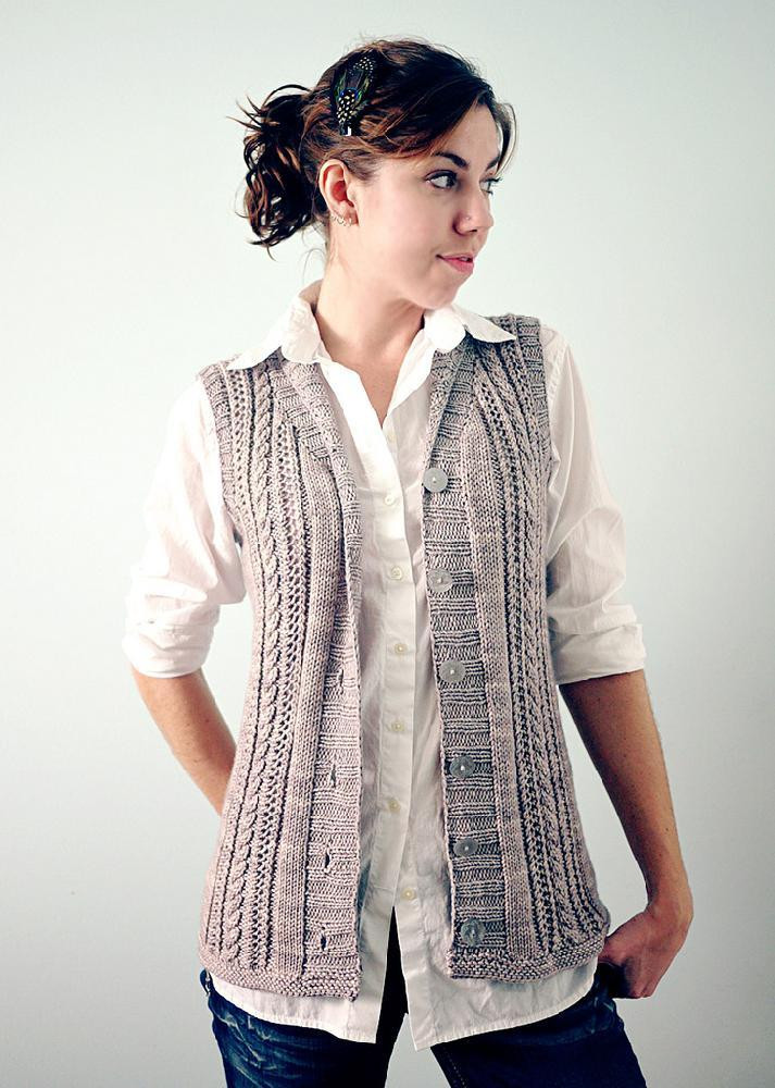 New Gamine Vest Knitting Pattern by tori Gurbisz Knitted Vest Patterns Of Amazing 50 Models Knitted Vest Patterns