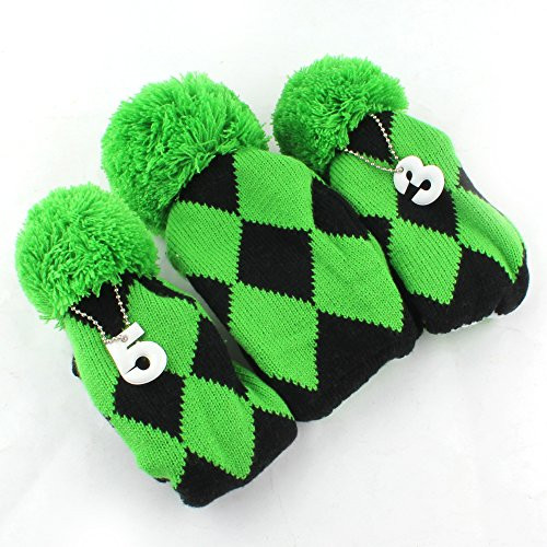New Golf Club Knit Head Cover 3pcs Headcover Set Vintange Pom Knit Golf Headcovers Of Innovative 47 Models Knit Golf Headcovers