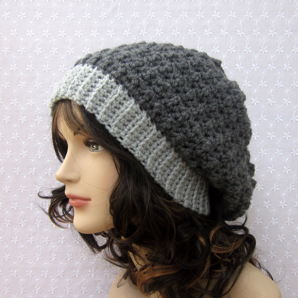 New Gray Slouchy Crochet Hat Womens Slouch Beanie Oversized Womens Crochet Beanie Of Perfect 44 Photos Womens Crochet Beanie