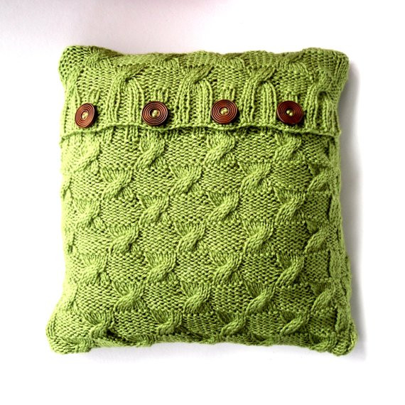 New Green Cable Knit Cushion Cover Throw Pillow by Cable Knit Pillow Cover Of Top 41 Pictures Cable Knit Pillow Cover