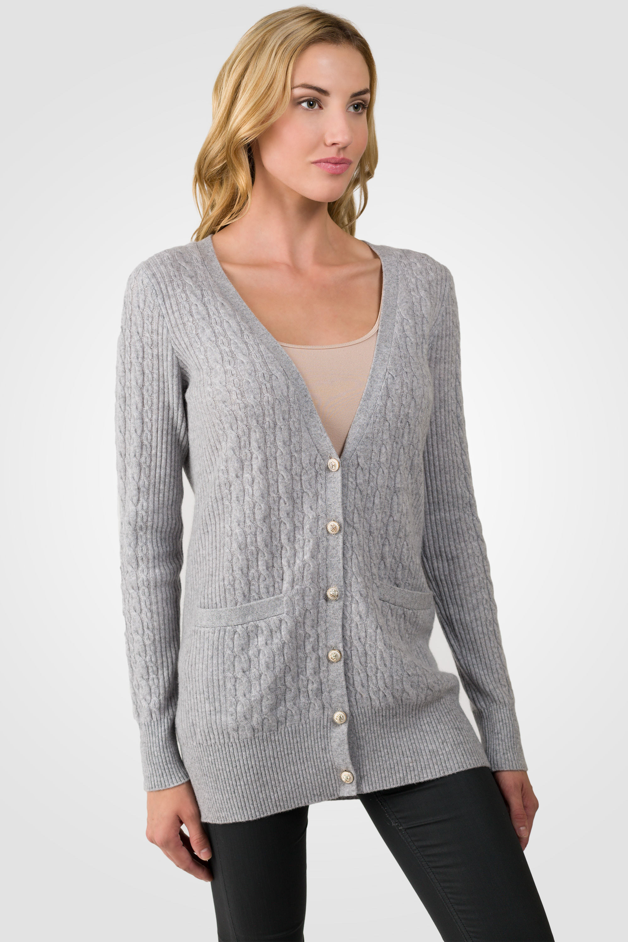 New Grey Cashmere Cable Knit V Neck Long Cardigan Sweater Cable Knit Cardigan Sweater Of Wonderful 46 Models Cable Knit Cardigan Sweater