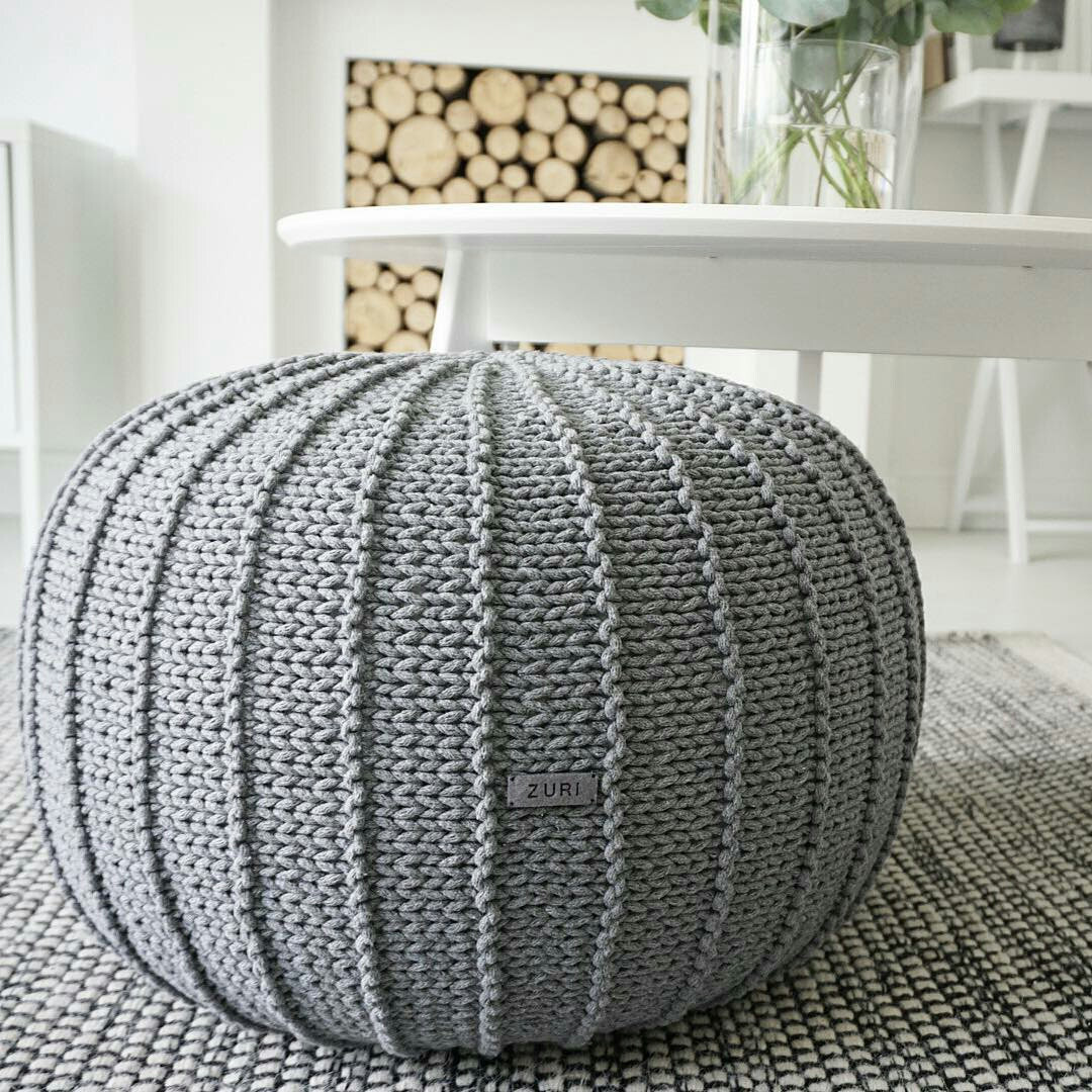 New Grey Floor Pouf Ottoman Knitted Pouf Knit by Zurihouse Crochet Floor Pouf Of Luxury 49 Pictures Crochet Floor Pouf