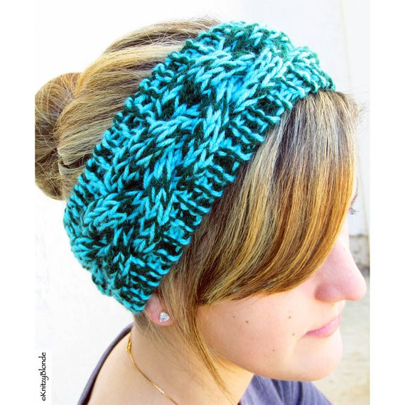 New Hand Knit Headband Braided Cable Vegan Washable Yarn Aqua Braided Knit Headband Of Amazing 42 Pics Braided Knit Headband