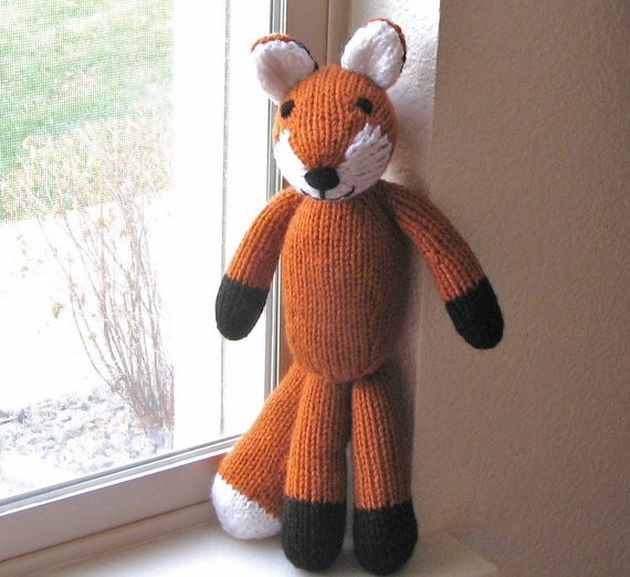 New Hand Knitted Fox Stuffed Animal Kids toy soft Knit toy Fox Knit Stuffed Animals Of Beautiful 47 Pics Knit Stuffed Animals