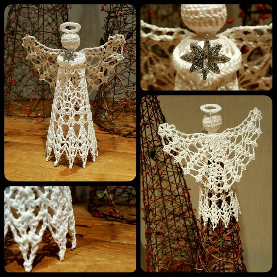 New Handcrafted Crochet Angel Tree topper Crochet Angel Tree topper Of Charming 43 Ideas Crochet Angel Tree topper