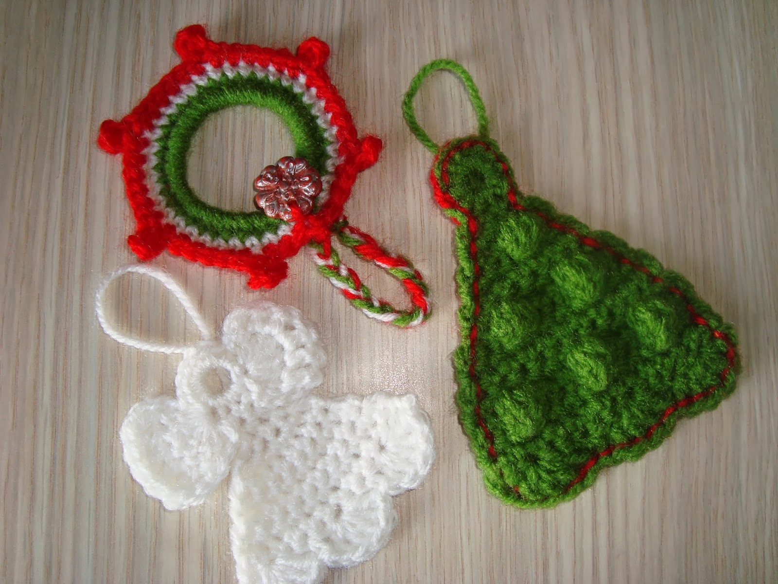 New Handmade by Camelia Pattern Three ornaments Crocheted Crochet Christmas ornaments Patterns Of Unique 47 Pics Crochet Christmas ornaments Patterns