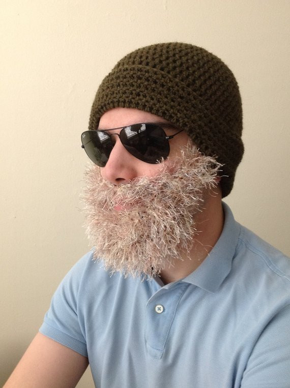 New Handmade Crochet Beard Hat In Olive Green Beanie Hat with Crochet Beard Hat Of Charming 44 Models Crochet Beard Hat