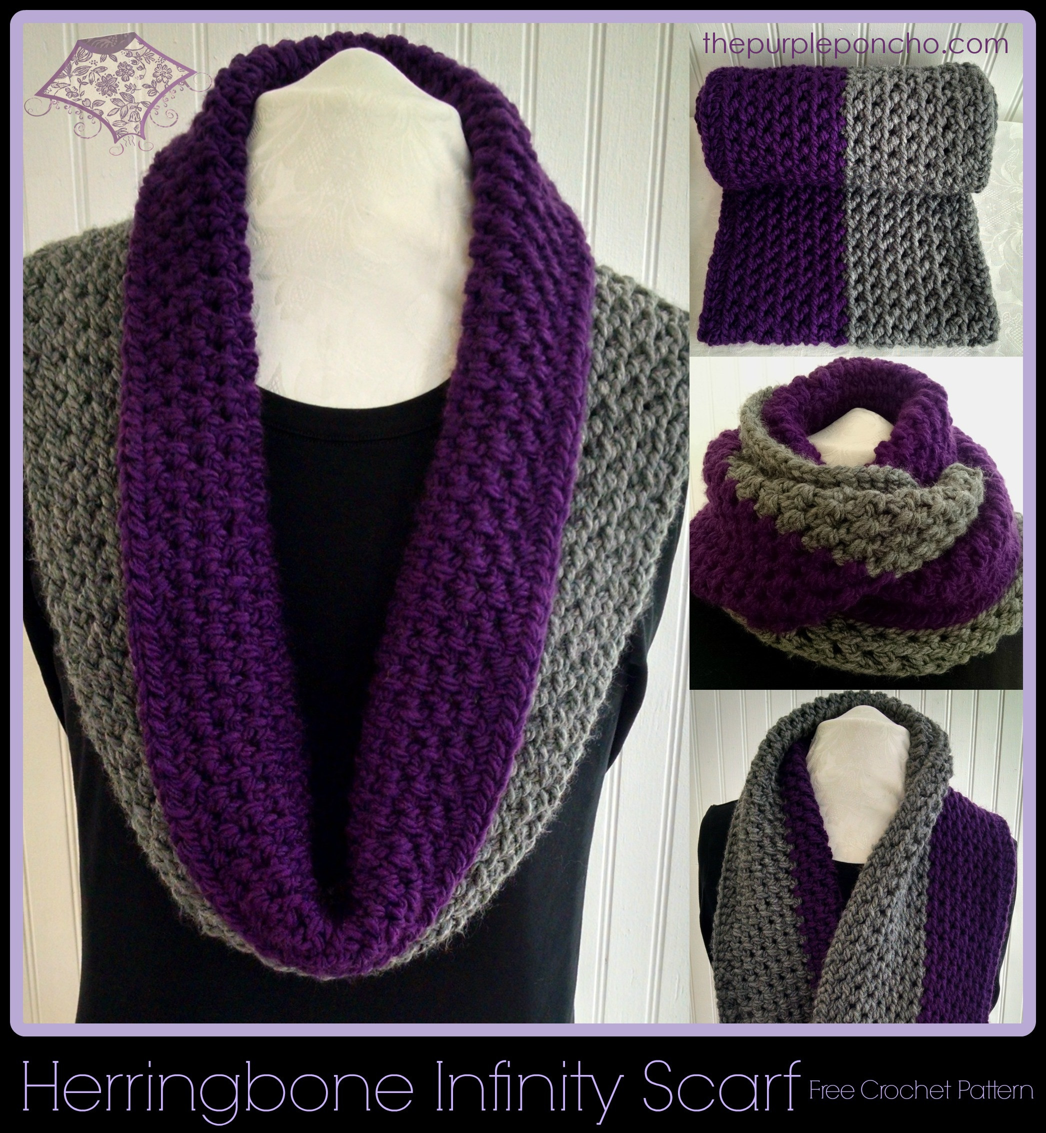 New Herringbone Infinity Scarf A Free Crochet Pattern – the Free Infinity Scarf Pattern Of Marvelous 48 Images Free Infinity Scarf Pattern