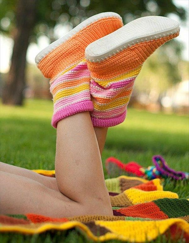 New High Knee Crochet Slipper Boots Patterns to Keep Your Feet Crochet Boot Of Awesome 46 Photos Crochet Boot