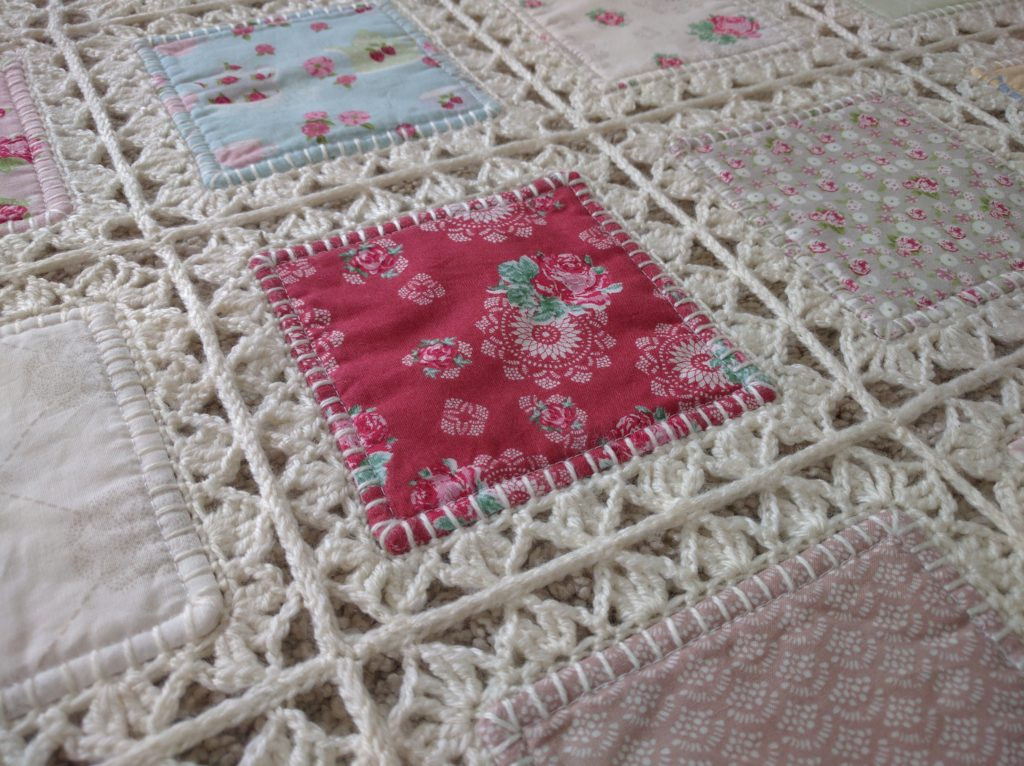 New High Tea Crochet Fusion Quilt Tutorial – Updated – Fanny Crochet and Fabric Quilt Of Top 45 Models Crochet and Fabric Quilt