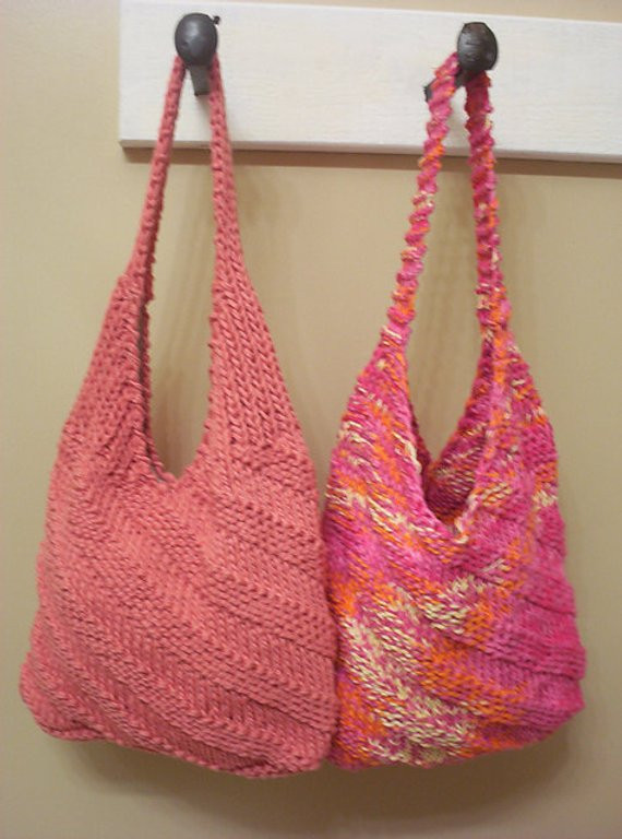 Hippie Cotton Shoulder Bag Knitting Pattern