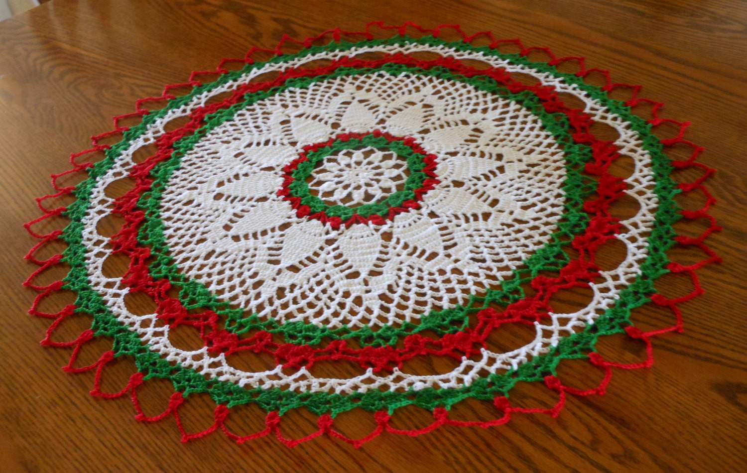 New Holiday Crochet Doily Round Doily White Red Green Doily Christmas Doilies Of Wonderful 44 Photos Christmas Doilies