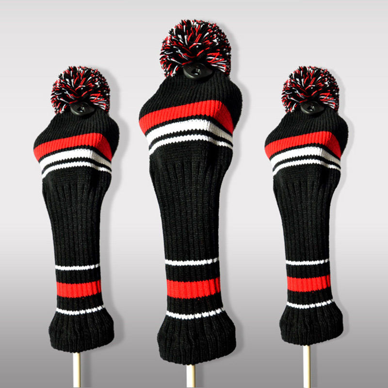 New Hot Golf Club Head Covers Woods Hybrid Knitted Pom Knit Golf Headcovers Of Innovative 47 Models Knit Golf Headcovers