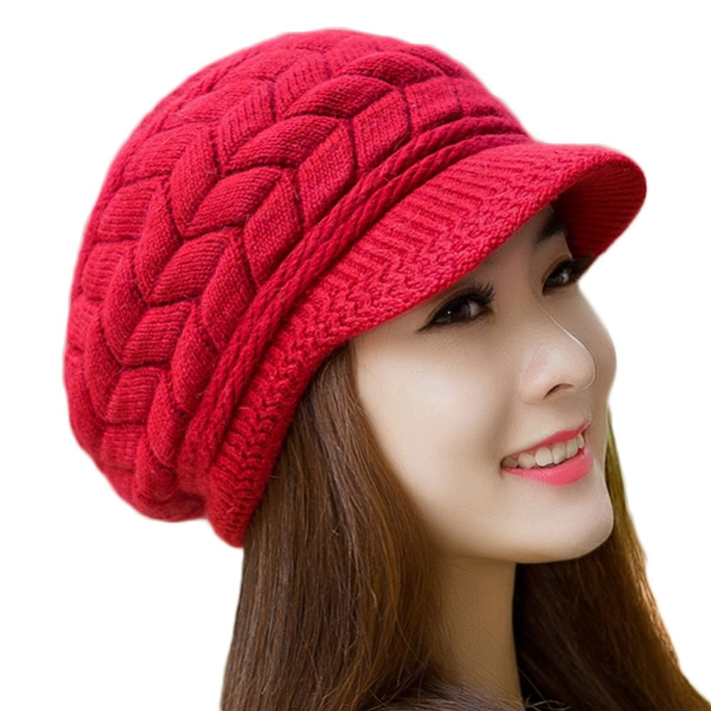 New Hot Sale Women Winter Hats Elegant solid Knitted Crochet Ladies Knitted Hats Of Adorable 50 Pictures Ladies Knitted Hats