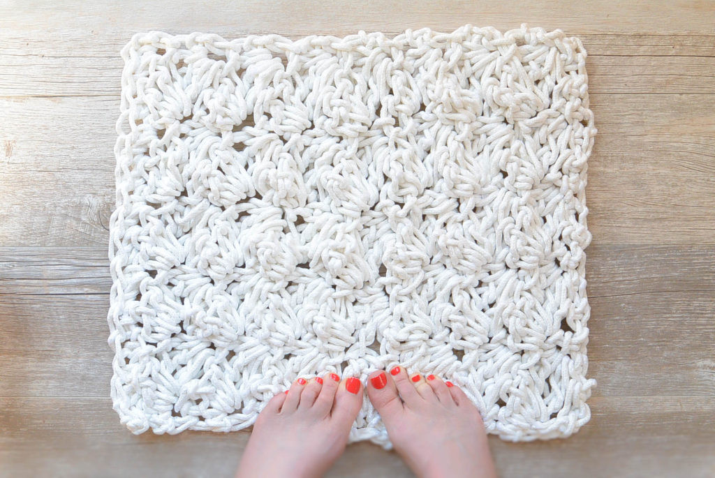 New How to Crochet A Bath Rug with Rope – Mama In A Stitch Crochet Bath Rugs Of Contemporary 44 Pictures Crochet Bath Rugs