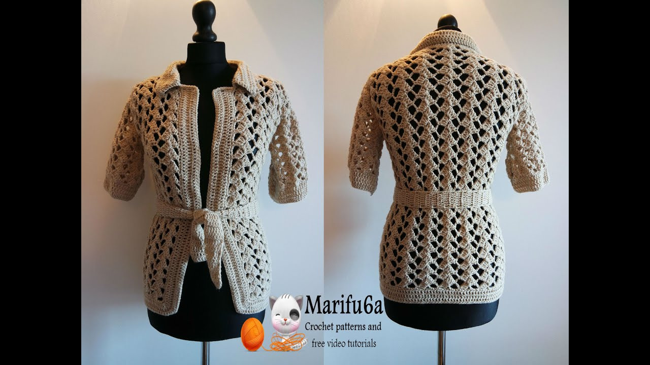 New How to Crochet Beige Jacket Free Tutorial Pattern by Crochet Jackets Patterns Of Top 44 Photos Crochet Jackets Patterns