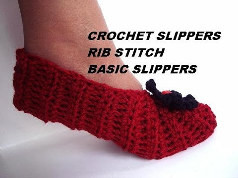 New How to Crochet Slippers Basic Rib Stitch Uni Slippers Youtube Crochet Tutorial Videos Of Lovely 41 Photos Youtube Crochet Tutorial Videos