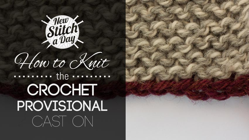 New How to Knit the Crochet Provisional Cast Provisional Cast On with Crochet Hook Of Charming 41 Photos Provisional Cast On with Crochet Hook