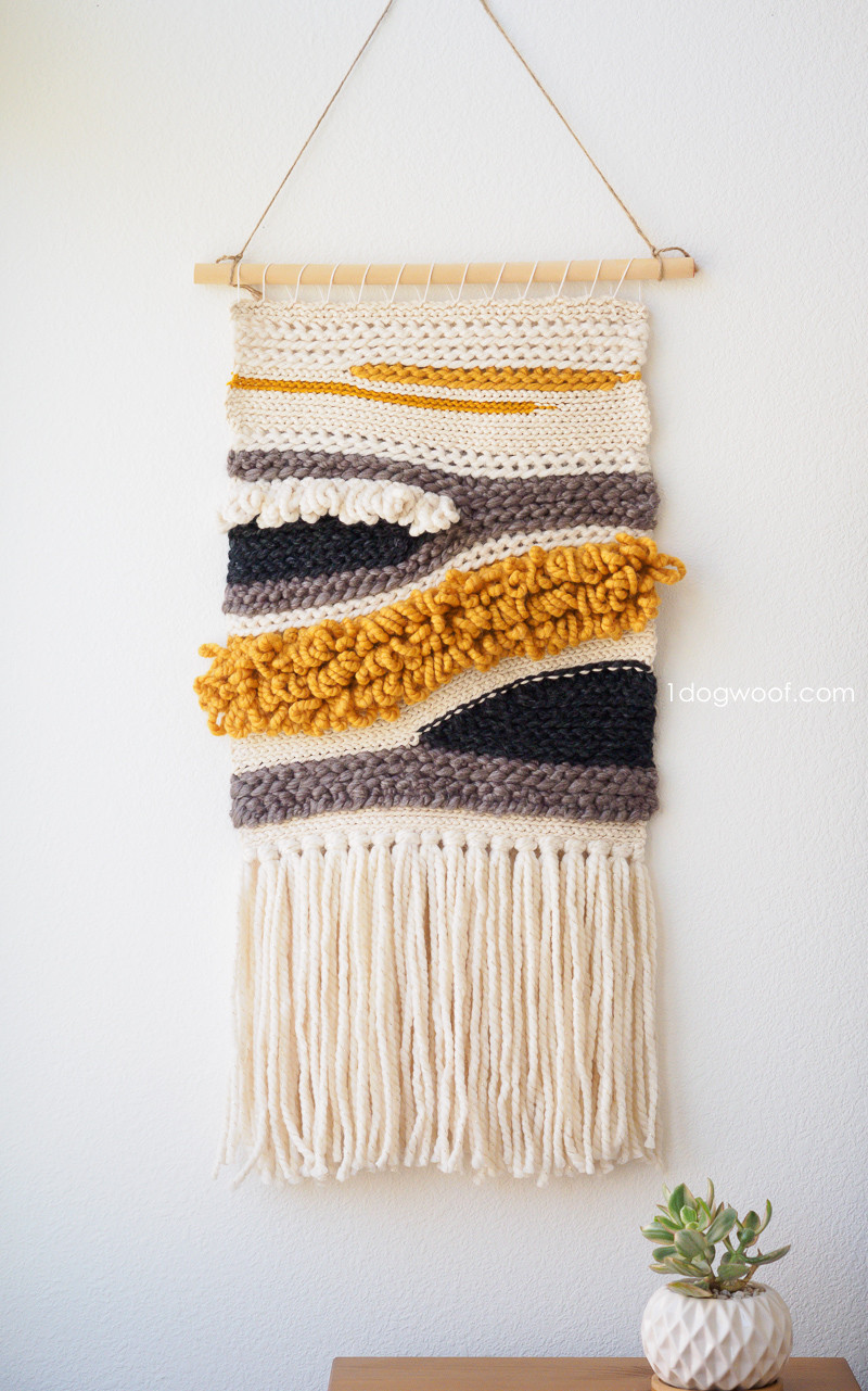 New How to Make Your Own Woven Crochet Wall Hanging E Dog Woof Weaving Wall Hanging Of Brilliant 43 Models Weaving Wall Hanging