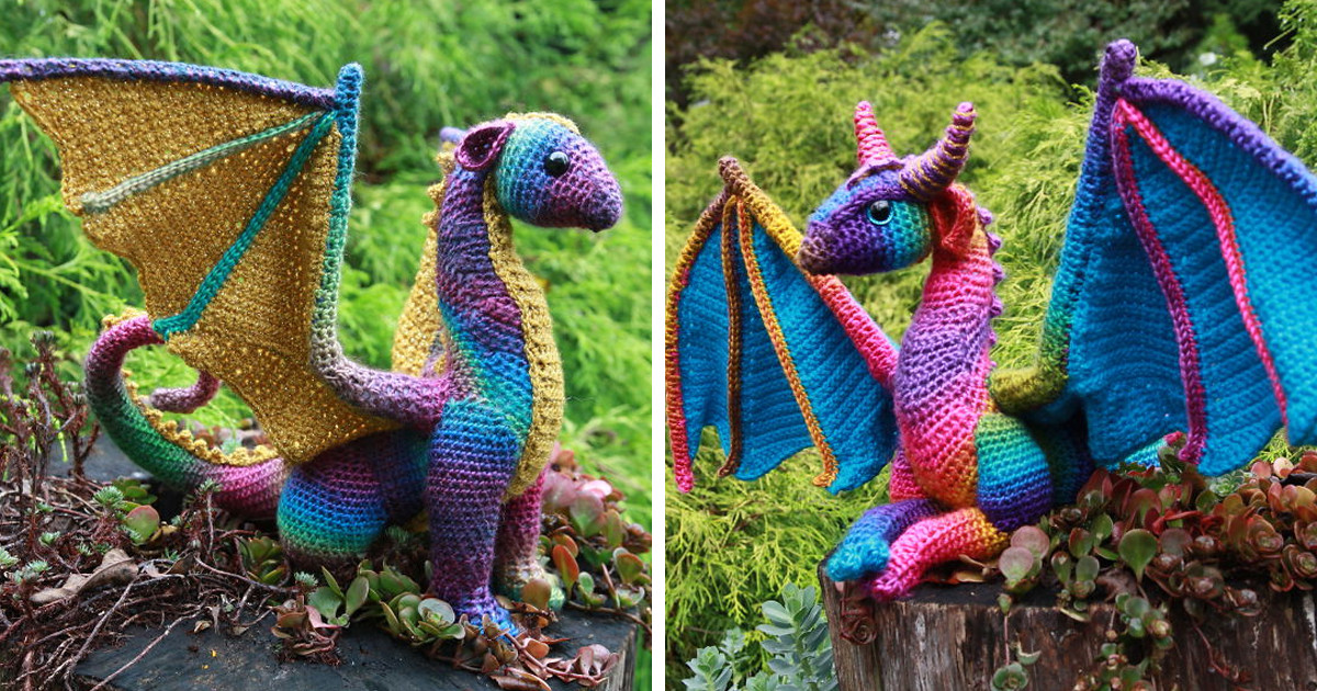 dragon crochet pattern crafty intentions