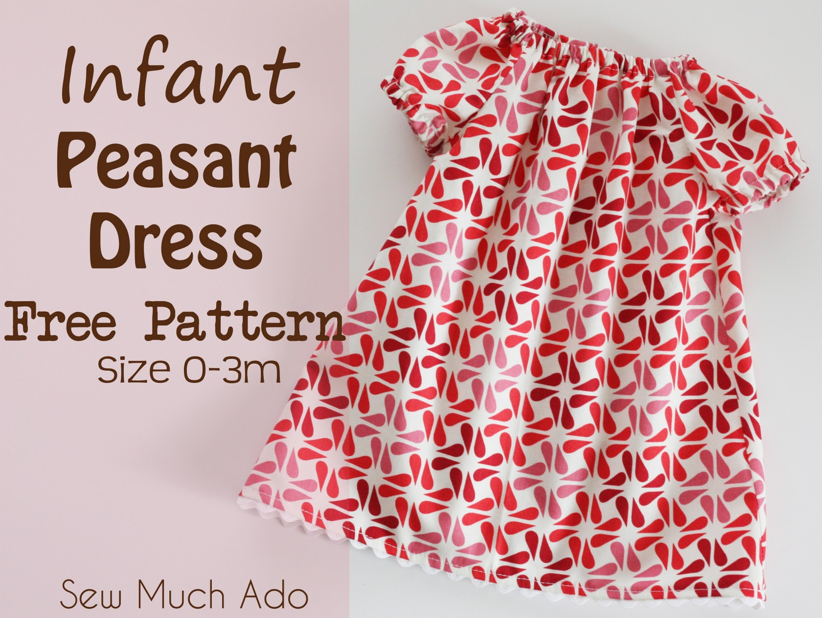 New Infant Peasant Dress Free Pattern and Tutorial Baby Dress Patterns Of Perfect 47 Models Baby Dress Patterns