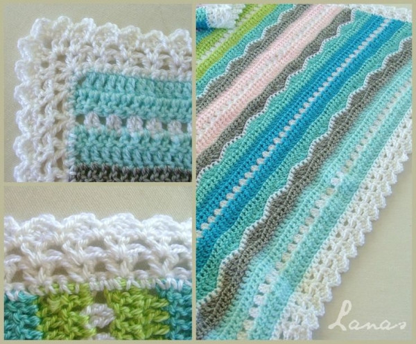 New Inspiration Miami Beach Baby Blanket Mixed Stitch Crochet Edging for Baby Blanket Patterns Of New 43 Pics Crochet Edging for Baby Blanket Patterns