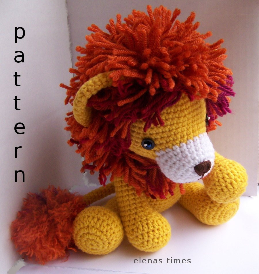 New Instant Download Crochet Pattern Baby Lion toy Lion Crochet Lion Pattern Of Luxury 40 Models Crochet Lion Pattern