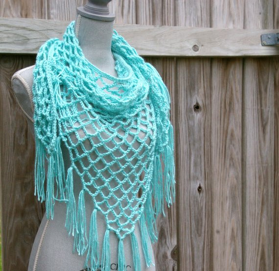 New Items Similar to Crochet Scarf Crochet Shawl Lattice Crochet Triangles Of Charming 42 Images Crochet Triangles