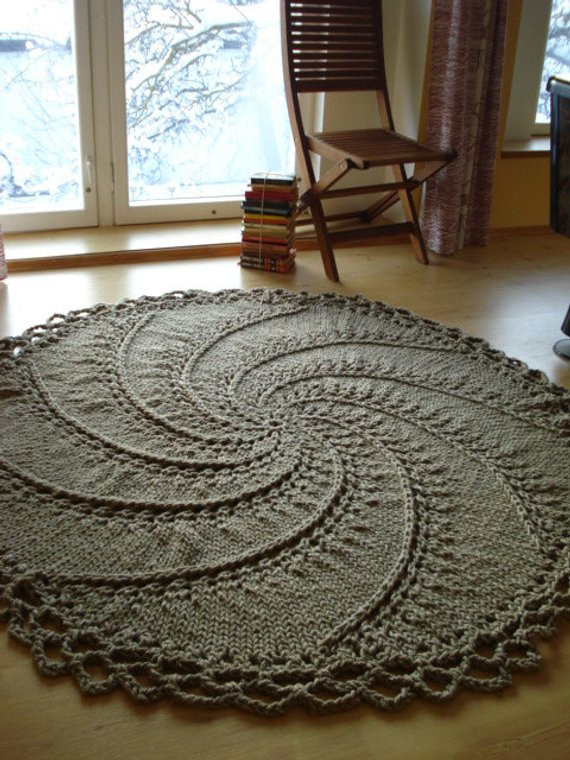 New Items Similar to Hand Knitted Natural Linen Rope Cord Rug Hand Crochet Rug Of Contemporary 41 Models Hand Crochet Rug