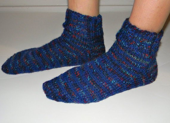 knitting pattern socks on 2 needles