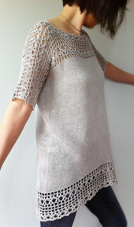 New Julia Floral Lace Tunic Crochet Pattern by Vicky Chan Crochet Lace top Pattern Of Incredible 45 Models Crochet Lace top Pattern