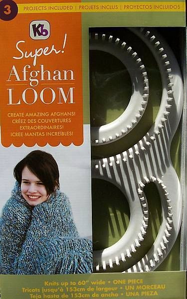 """KB Afghan Loom Kit Knit Up To 60"""" Afghan In e Piece"""