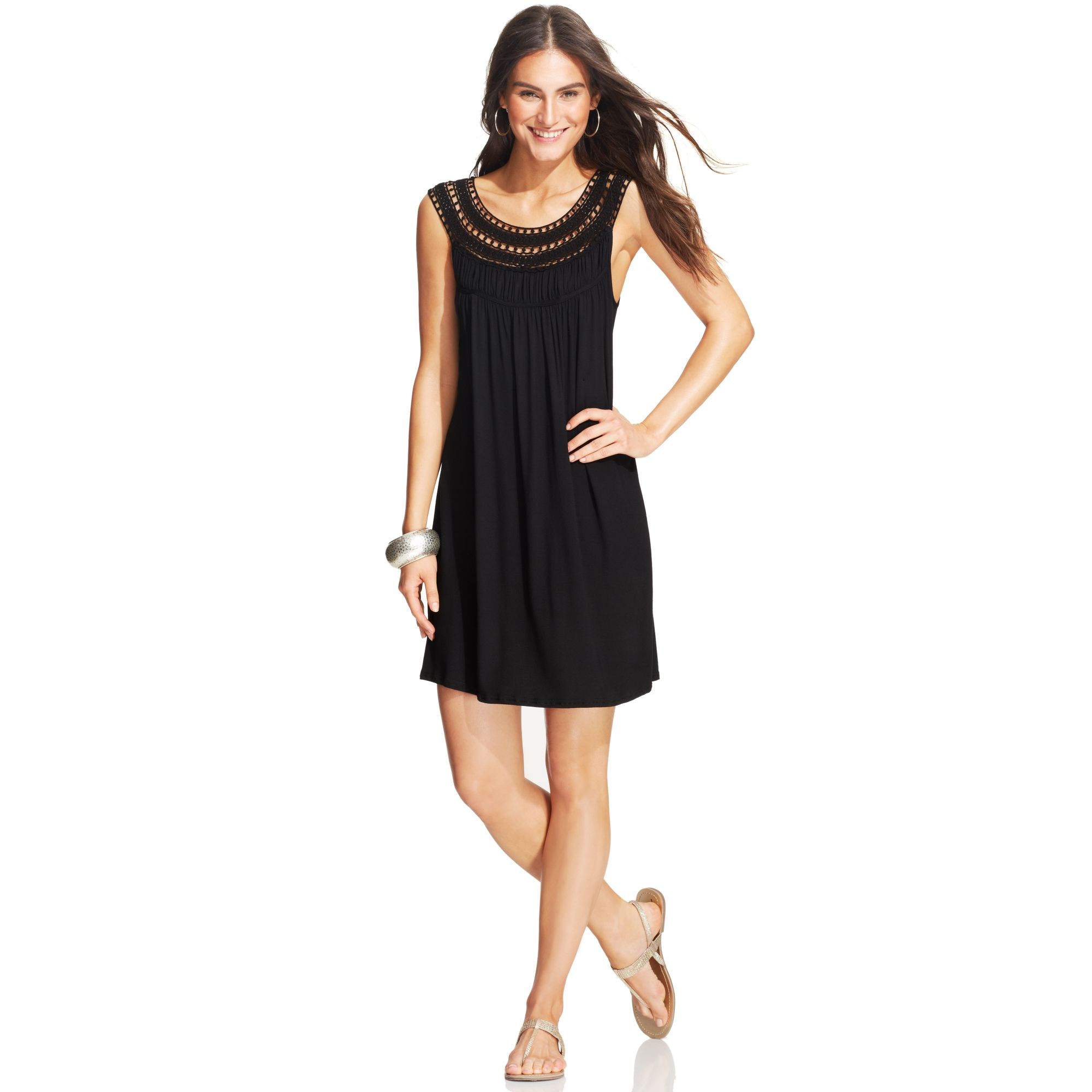 New Kenneth Cole Reaction Crochet Neck Dress Cover Up In Black Black Crochet Cover Up Of Superb 42 Images Black Crochet Cover Up