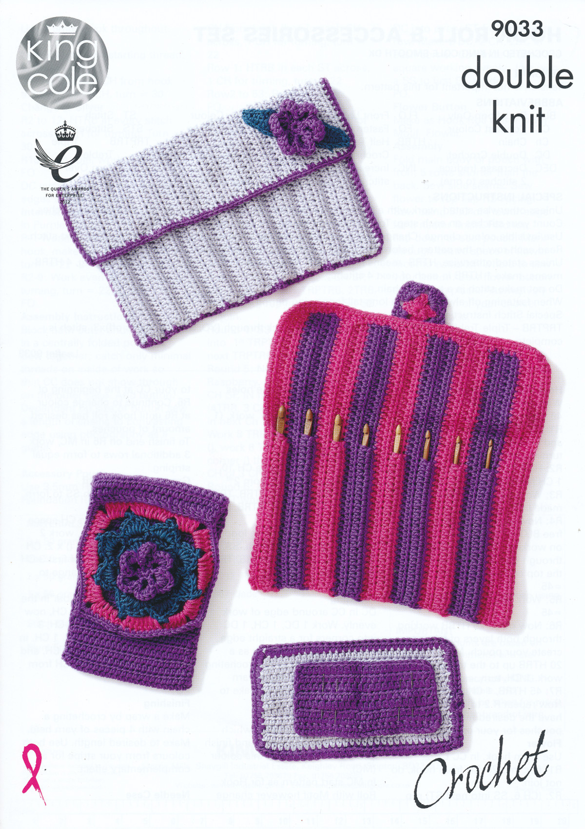 New King Cole Double Knit Crochet Pattern Hook Roll Needle Knit with Crochet Hook Of Adorable 45 Images Knit with Crochet Hook
